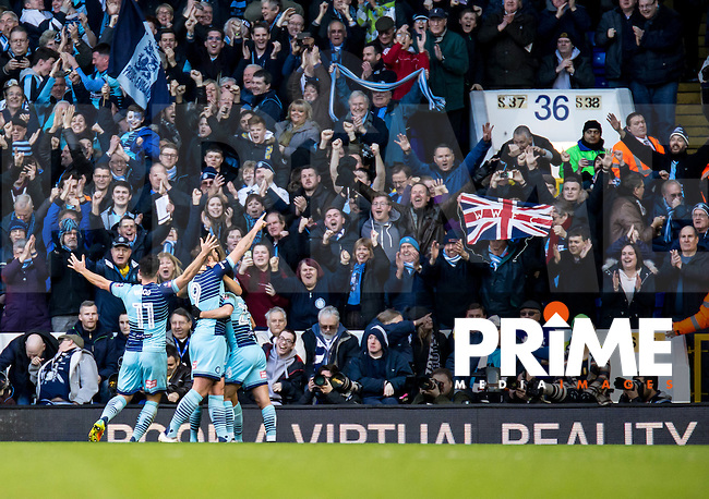 Paul Hayes of Wycombe Wanderers celebrates scoring from the penalty spot during the FA Cup 4th round match between Tottenham Hotspur and Wycombe Wanderers at White Hart Lane, London, England on the 28th January 2017. Photo by Liam McAvoy.