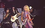 Nikki Sixx, Vince Neil & Mick Mars Motley Crue at Madison Square Garden Aug 1985.