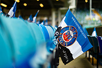 A general view of Bath Rugby flags in the south stand. Heineken Champions Cup match, between Bath Rugby and Stade Toulousain on October 13, 2018 at the Recreation Ground in Bath, England. Photo by: Patrick Khachfe / Onside Images