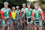 Dominic, Cuirithir and Aimhirthin O'Brannagain, Gerry McCaffrey, Jimmy Flynn and Kevin Traynor who took part in the Ardee Cycle club 50Km cycle. Photo: Colin Bell/pressphotos.ie