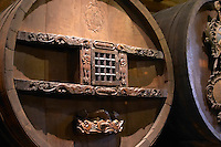 old antique carved wooden vat unterlinden museum colmar alsace france