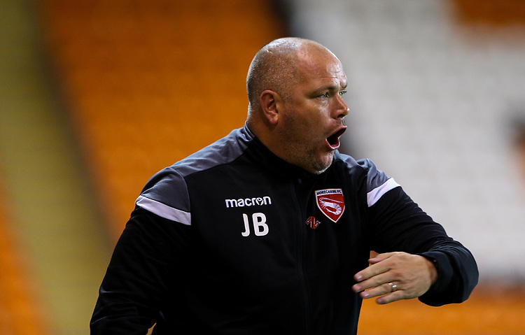 Morecambe manager Jim Bentley<br /> <br /> Photographer Alex Dodd/CameraSport<br /> <br /> EFL Leasing.com Trophy - Northern Section - Group G - Blackpool v Morecambe - Tuesday 3rd September 2019 - Bloomfield Road - Blackpool<br />  <br /> World Copyright © 2018 CameraSport. All rights reserved. 43 Linden Ave. Countesthorpe. Leicester. England. LE8 5PG - Tel: +44 (0) 116 277 4147 - admin@camerasport.com - www.camerasport.com