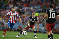 27.08.2012 SPAIN -  La Liga 12/13 Matchday 2th  match played between Atletico de Madrid vs Athletic Club de Bilbao (4-0) with hat-trick Radamel Falcao at Vicente Calderon stadium. The picture show Mario Suarez Mata (Spanish midfielder of At. Madrid)