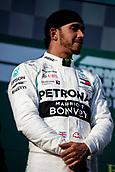 17th March 2019, Melbourne Grand Prix Circuit, Melbourne, Australia; Melbourne Formula One Grand Prix, race day; Lewis Hamilton is second after the race