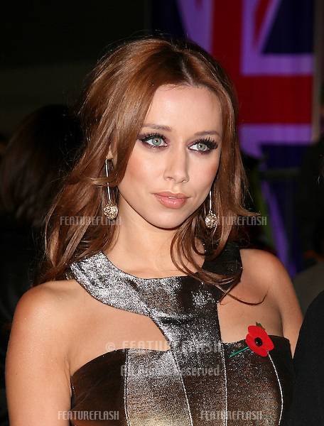 Una Healy from The Saturdays arriving for the 2010 Pride Of Britain Awards, at the Grosvenor House Hotel, London. 08/11/2010  Picture by: Alexandra Glen / Featureflash