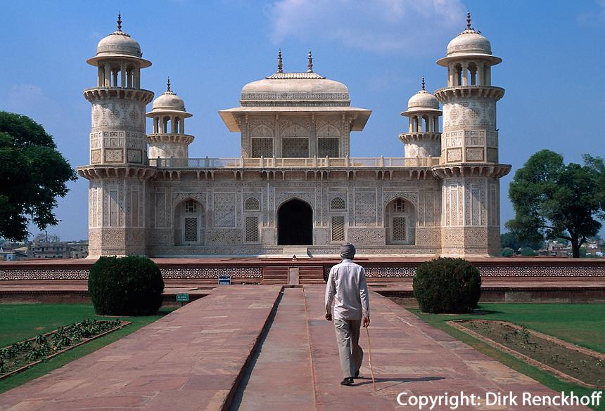 Itimad-ut-Daula, Grabmal erbaut 1628, Agra, Uttar Pradesh, Indien