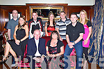 RUBY ANNIVERSARY: Ernie and Teresa Lehane celebrating their 40th wedding anniversary at Ballygarry House Hotel on Saturday with family and friends. Pictured here with Ernie and Teresa are John and Angelina Moriarty, Bo, Elaine and Philip Lehane, Mary Flahive and Eric Lehane.   Copyright Kerry's Eye 2008