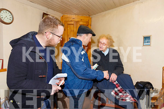 Mickael Healy Rae speaks with Teresa O'Sullivan from the Fair Green in Cahersiveen while on the campaign trail with Kerry's Eye Reporter David Byrne.