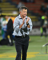 MEDELLIN - COLOMBIA -11-02-2015: Juan C Osorio, tecnico de Atletico Nacional  durante partido Atletico Nacional y Atletico Huila por la fecha 3 de la Liga Aguila I 2015 en el estadio Atanasio Girardot de la ciudad de Medellin. / Juan C Osorio, coach of Atletico Nacional during a match Atletico Nacional and Atletico Huila for the date 3 of the Liga Aguila I 2015 at the Atanasio Girardot stadium in Medellin city. Photo: Photos: VizzorImage  / Leon Monsalve / Str.
