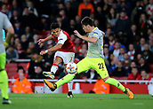 14th September 2017, Emirates Stadium, London, England; UEFA Europa League Group stage, Arsenal versus FC Cologne; Alexis Sanchez of Arsenal makes it 2-1 in the 67th minute, slotting his shot past FC Koln Goalkeeper Timo Horn