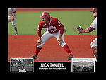 Photo collage of Nick Tanielu during his college baseball career at Washington State University.