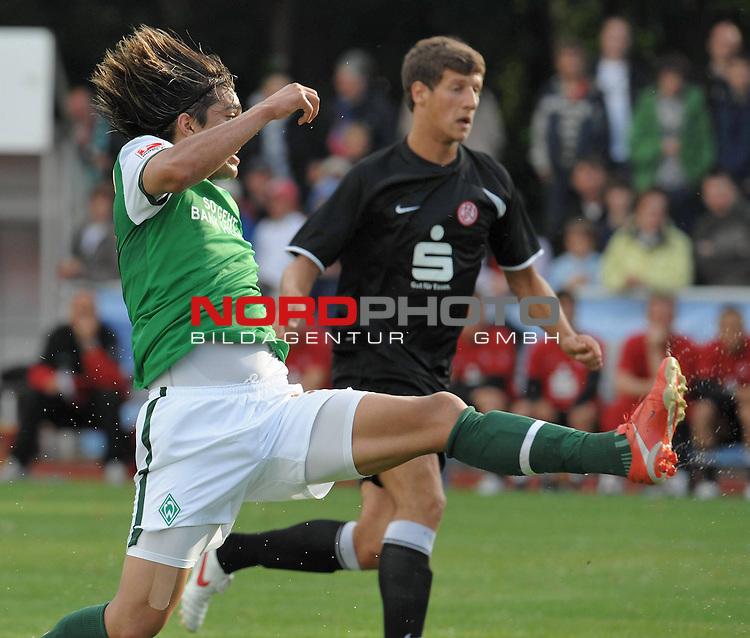 FBL 09/10 Traininglager  Werder Bremen Norderney 2009 Vorbereitungsspiel / Testspiel Stadion an der M&uuml;hle Norderney<br /> <br /> Marcelo Moreno Martins ( Bremen BOL / BRA #39 )<br /> <br /> <br /> Foto &copy; nph (nordphoto)
