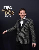Fussball International  FIFA Ballon d Or / Weltfussballer 2012   07.01.2013 Lionel Messi (Argentinien)