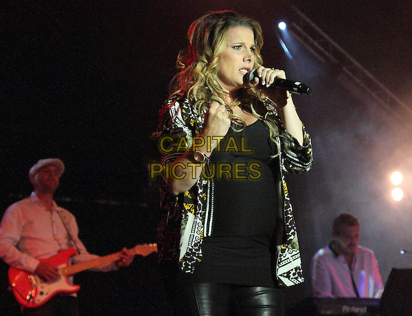GUILDFORD, UNITED KINGDOM - JULY 19 Sam Bailey performs on stage at Guilfest at Stoke Park on July 19, 2014 in Guildford, United Kingdom<br /> CAP/ROS<br /> &copy;Steve Ross/Capital Pictures