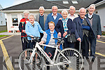 Castleisland Day Care Centre are calling on everyone to support the annual Currow Cycling Club cycle fund-raiser which helps support the centre. .Front L-R Helen Casey, Agnes Twomey, Bridie O'Connor and John Cremin. .Back L-R Mary Fitzgerald, John O'Mahony, Dan Lucey, James Lyons and Pat O'Mahony.
