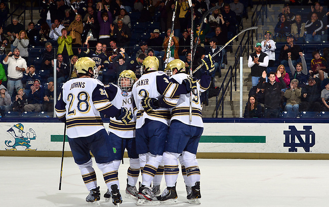 Oct. 18, 2012; Hockey vs Minnesota-Duluth..Photo by Matt Cashore/University of Notre Dame