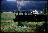 D&amp;RGW #473 K-28 heading up the Animas Valley towards Hermosa.<br /> D&amp;RGW  Animas Valley, CO