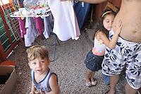 children  living in a house-container of the Municipality of Palermo, after family was evicted from  home.<br /> Palermo,  bambini vivono i insieme alla famiglia in un campo containers del comune, dopo che la famiglia ha subito uno sfratto.