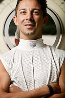 Jockey Eibar Coa poses for the photographer at the race track in Saratoga Springs, NY, USA, 14 August 2006.