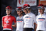 Cervelo- Bigla Pro Cycling Team at sign on before the 2018 Liege-Bastogne-Liege Femmes running 136km from Bastogne to Ans, Belgium. 22nd April 2018.<br /> Picture: ASO/Thomas Maheux | Cyclefile<br /> All photos usage must carry mandatory copyright credit (&copy; Cyclefile | ASO/Thomas Maheux)