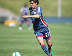 17 June 2007: New England's Miguel Gonzalez. The New England Revolution Reserves defeated the Columbus Crew Reserves 2-1 on the Gillette Stadium practice field in Foxboro, Massachusetts in a Major League Soccer Reserve Division game.