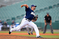 New Orleans Zephyrs pitcher Chris Hatcher #39 during a game against the Round Rock Express on April 15, 2013 at Zephyr Field in New Orleans, Louisiana.  New Orleans defeated Round Rock 3-2.  (Mike Janes/Four Seam Images)