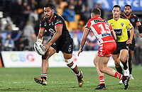 Sam Lisone.<br /> NRL Premiership rugby league. Vodafone Warriors v St George Illawarra. Mt Smart Stadium, Auckland, New Zealand. Friday 20 April 2018. &copy; Copyright photo: Andrew Cornaga / www.Photosport.nz