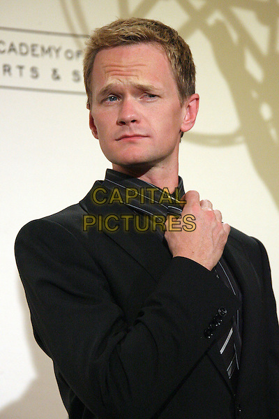 NEIL PATRICK HARRIS.58th Annual Creative Arts Emmy Awards - Press Room held at the Shrine Auditorium, Los Angeles, California, USA..August 19th, 2006.Ref: ADM/ZL.half length black suit jacket tie collar.www.capitalpictures.com.sales@capitalpictures.com.©Zach Lipp/AdMedia/Capital Pictures.