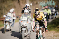 Wout Van Aert (BEL/Jumbo-Visma) in full finale, solo in 3rd position & thus repeating his brakethrough performance of 1 year earlier<br /> <br /> 13th Strade Bianche 2019 (1.UWT)<br /> One day race from Siena to Siena (184km)<br /> <br /> ©kramon