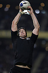 New Zealand's Ali Williams secures a lineout ball during the first international rugby test at Eden Park, Auckland, New Zealand, Saturday, June 02, 2007. The All Blacks beat France 42-11.