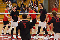 STANFORD, CA - January 2, 2018: Eric Beatty, Kevin Rakestraw at Burnham Pavilion. The Stanford Cardinal defeated the Calgary Dinos 3-1.