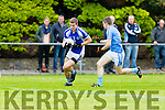 Brian Crowley Templenoe takes on Firies Pat Brown during their Junior Semi final in Beaufort on Sunday