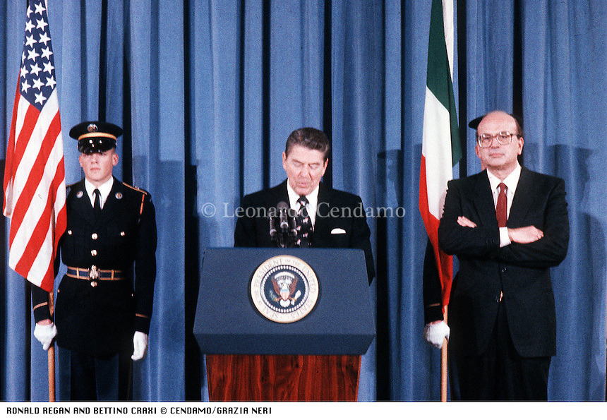 RONALD REGAN AND BETTINO CRAXI © Leonardo Cendamo