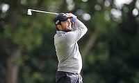 Francesco Molinari on the 2nd tee - BMW Golf at Wentworth - Day 2 - 22/05/15 - MANDATORY CREDIT: Rob Newell/GPA/REX -