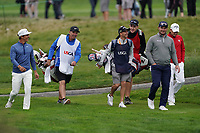 Thorbjorn Olesen (DEN) Emiliano Grillo (ARG) Ryan Fox (NZL) during the 2nd round of the US Open Championship, Pebel Beach Golf Links, Monterrey, Calafornia, USA. 14/06/2019.<br /> Picture Fran Caffrey / Golffile.ie<br /> <br /> All photo usage must carry mandatory copyright credit (© Golffile | Fran Caffrey)