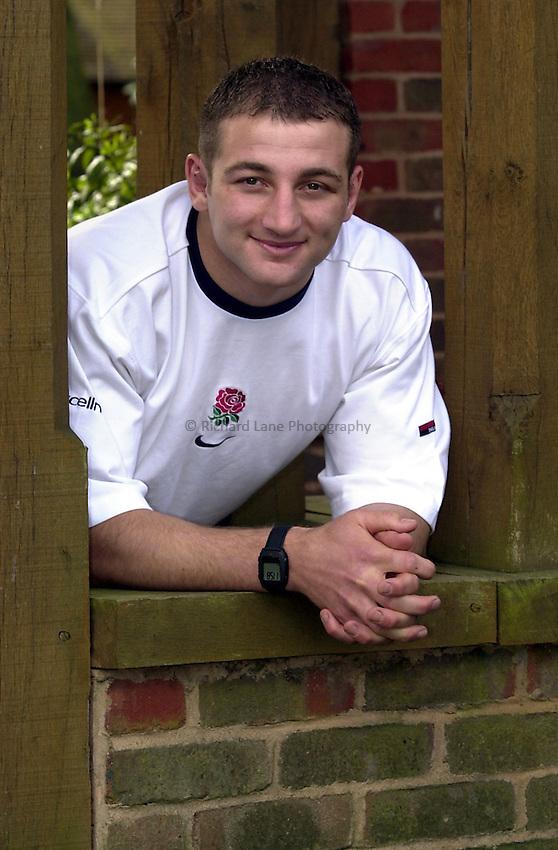 Photo. Richard Lane. .English Rugby Press Conference, Bagshot. 3/4/2001..Steve Borthwick.