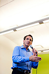 Republican presidential candidate Tim Pawlenty campaigns on Tuesday, July 19, 2011 in Marshalltown, IA.