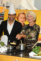 "Manish Dayal, and Dame Helen Mirren at the photocall for ""The Hundred Foot Journey"", London. 02/09/2014 Picture by: Steve Vas / Featureflash"