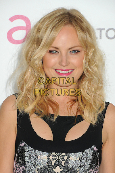 Malin Akerman .20th Annual Elton John Academy Awards Viewing Party held at West Hollywood Park, West Hollywood, California, USA..February 26th, 2012.oscars headshot portrait black green blue print purple pink lipstick .CAP/ADM/BP.©Byron Purvis/AdMedia/Capital Pictures.