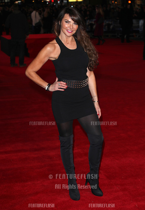 Lizzie Cundy arriving for the UK Premiere of Jack Ryan, at Vue Leicester Square, London. 20/01/2014 Picture by: Alexandra Glen / Featureflash