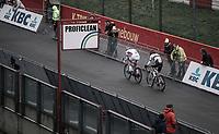 World Champion Wout Van Aert (BEL/Crelan Charles) and Mathieu Van Der Poel (NED/Beobank Corendon) <br /> <br /> <br /> Elite Men's Race<br /> UCI CX World Cup Zolder / Belgium 2017
