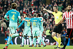 FC Barcelona's Ivan Rakitic, Neymar Santos Jr, Andres Iniesta, Leo Messi and Jordi Alba celebrate goal during Spanish Kings Cup match. January 05,2017. (ALTERPHOTOS/Acero)