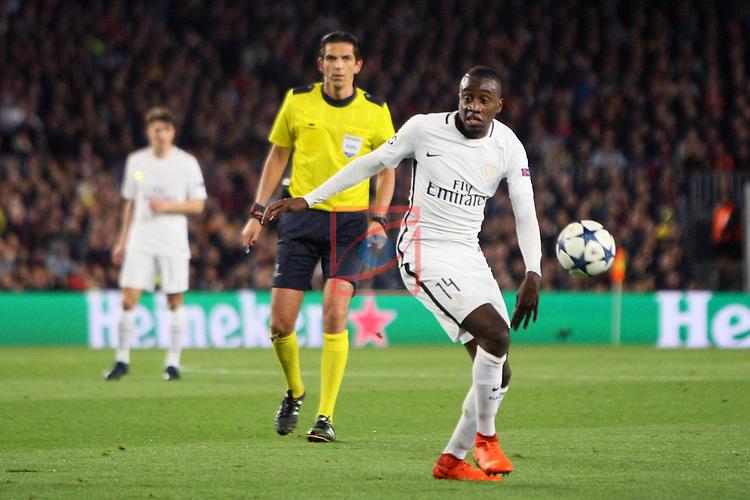 UEFA Champions League 2016/2017.<br /> Round of 16 2nd leg<br /> FC Barcelona vs Paris Saint-Germain: 6-1.<br /> Blaise Matuidi.