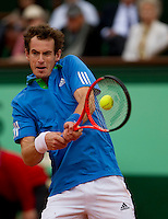 Andy MURRAY (GBR) (4) against Simone BOLELLI (ITA) in the 2nd round of the men's singles. Andy Murray beat Simone Bolelli 7-6 6-4 7-5..Tennis - Grand Slam - French Open - Roland Garros - Paris - Day 5 -  Thur May 26th 2011..© AMN Images, Barry House, 20-22 Worple Road, London, SW19 4DH, UK..+44 208 947 0100.www.amnimages.photoshelter.com.www.advantagemedianetwork.com.