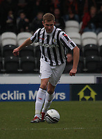 Marc McAusland in the St Mirren v Dundee United Clydesdale Bank Scottish Premier League match played at St Mirren Park, Paisley on 27.10.12.