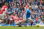 Martyn Waghorn fouled by Massimo Donati for a penalty