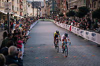 Małgorzata Jasinska (POL/Movistar) & Emilia Fahlin (SWE)<br /> <br /> WOMEN ELITE ROAD RACE<br /> Kufstein to Innsbruck: 156.2 km<br /> <br /> UCI 2018 Road World Championships<br /> Innsbruck - Tirol / Austria