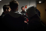 Clyde versus Edinburgh City, SPFL League 2 game at Broadwood Stadium, Cumbernauld. The match ended 0-0, watched by a crowd of 461. Photo shows Clyde manager Barry Ferguson talking to the press after the match.