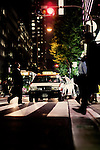 Office staff pour out of the skyscrapers in the Yurakucho business district of Tokyo on a balmy Friday evening into waiting taxis.