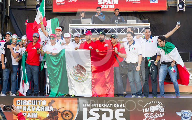 Mexico enduro team during the presentation of the FIM international six days of enduro 2016 in Pamplona, Spain. October 09, 2016. (ALTERPHOTOS/Rodrigo Jimenez)